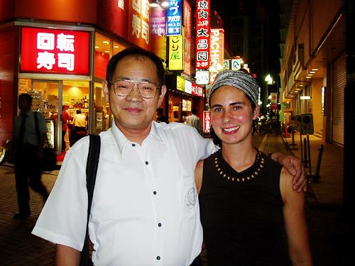 Meeting Sakuma in downtown Tokyo, 2004