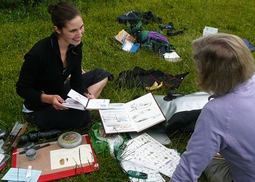 Sharing journaling ideas (photo credit: Megan McGinty)