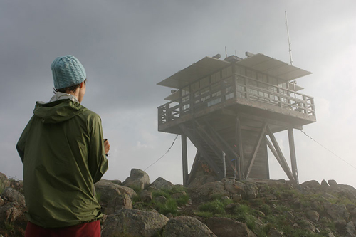 Sketching the lookout after the storm... (photo credit: <a href=