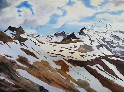 "Mt. Baker, 23"" x 17"" watercolor"