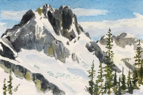 "Mt. Redoubt Postcard, 6"" x 4"""