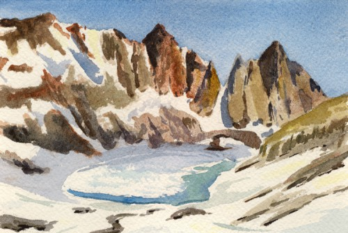 """Silver Lake Postcard, 6"""" x 4"""""""