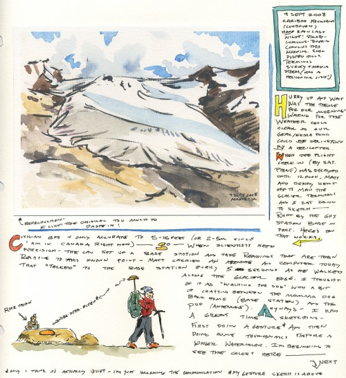 Sept. 9 field journal, page 1