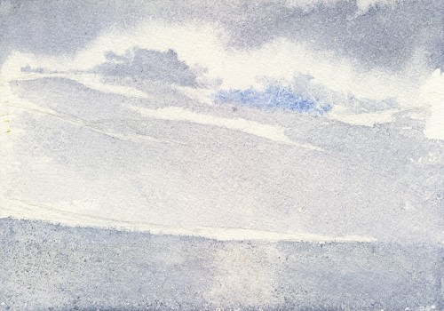 """My sketch (7"""" x 5"""") in the accumulation zone froze... and so did my fingers!"""