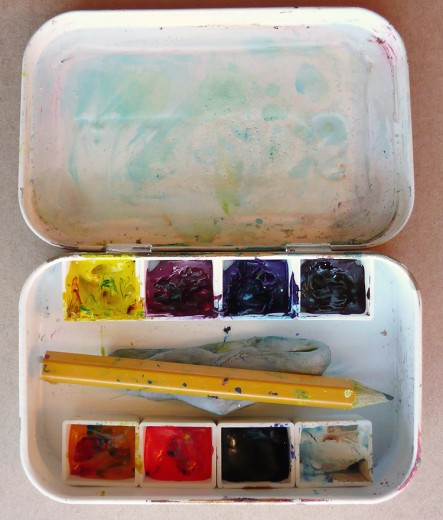 Altoids art kit made with half-pans for Girls on Ice