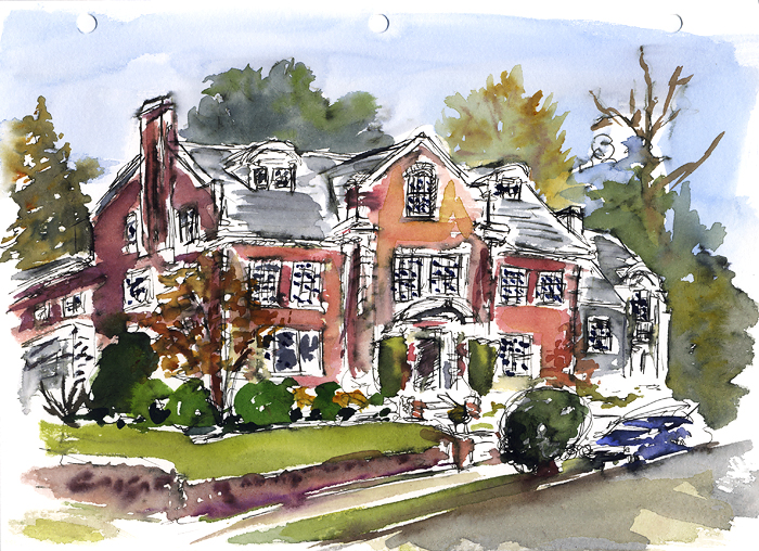 "From the corner of E. Galer St. and Federal Ave E, Nov 19, 2008. 11"" x 8.5"""