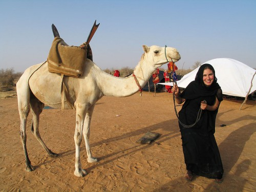Camels in the desert... risky (but such fun) transportation