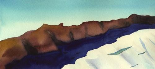 "12"" x 6"" Mt. Daniel ridge line color study"