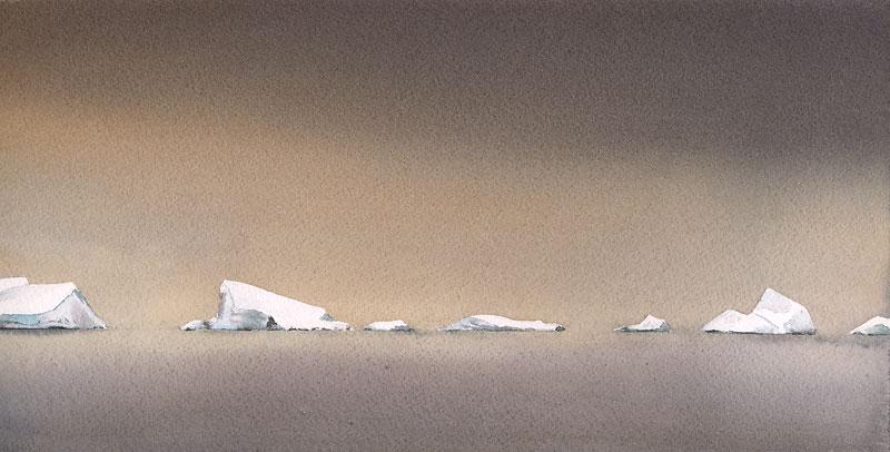"12"" x 6"" Iceberg Patrol painting"