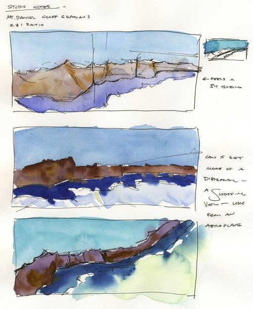 Page 1 of Mt. Daniel ridge line studies