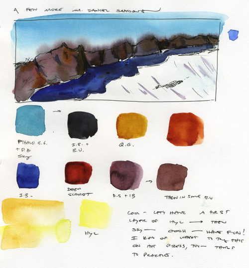Page 2 of Mt. Daniel ridge line studies