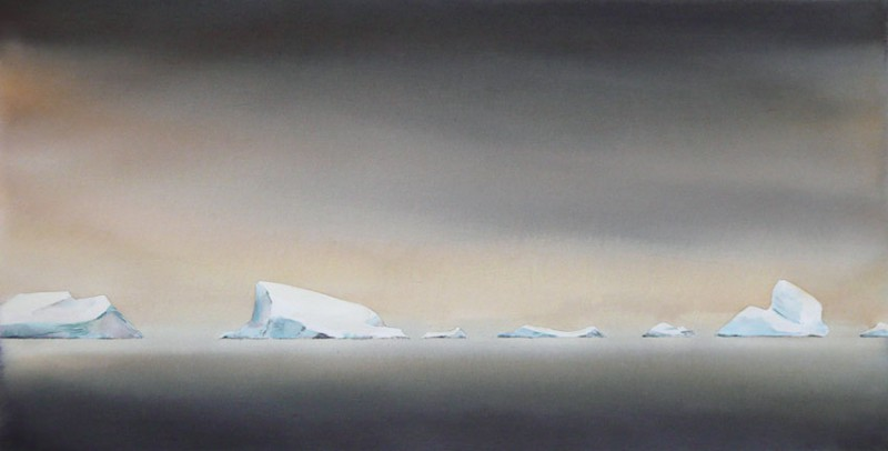 "30"" x 15"" Iceberg Patrol final painting"