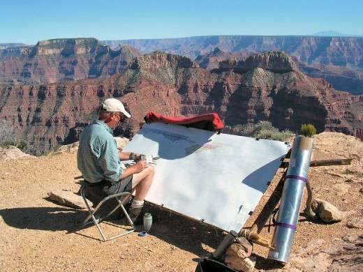 Tony Foster painting the Grand Canyon (© 2004 Annis Englen)