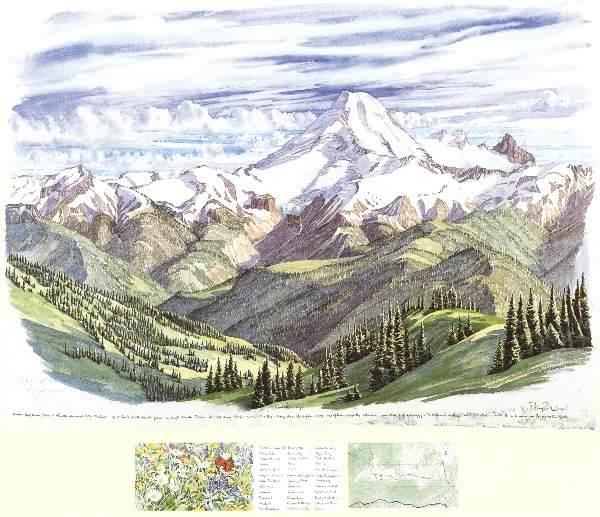"Mt.Baker, 22"" x 31"" - 4"" x 9"" (©1996 Tony Foster)"