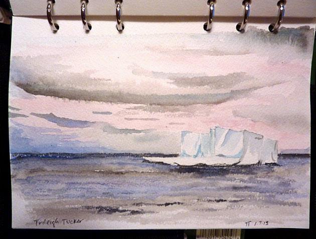TrileighTucker-Antarctic-iceberg-watercolor