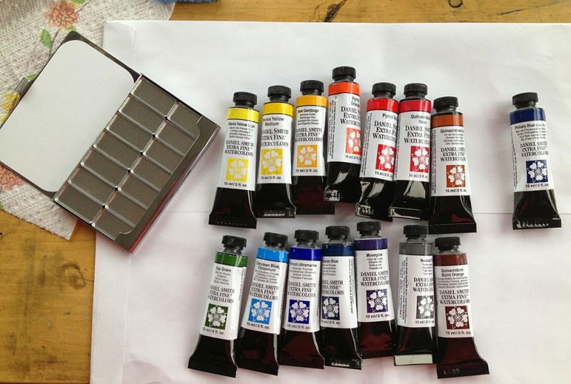 New toys: Pocket Palette and fresh paints, photo credit: Charles Kearns