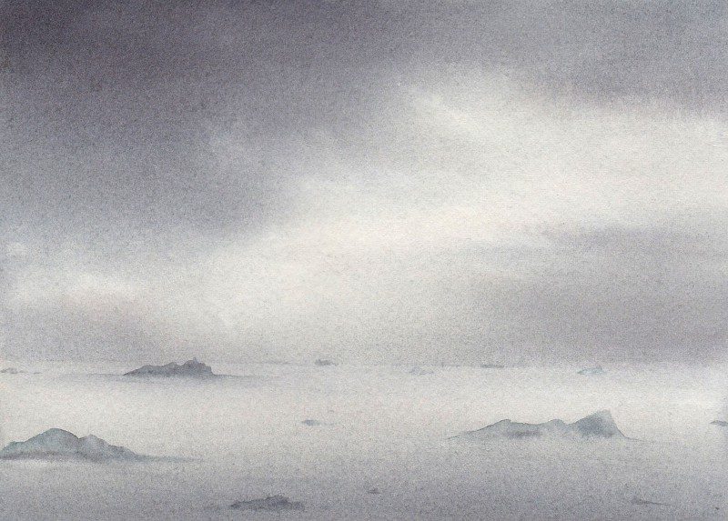 "Storm Light, 5"" x 7"" watercolor study"