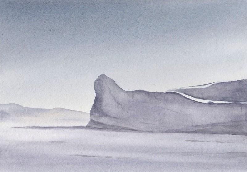 "Lowlight, 6"" x 8"" watercolor study"