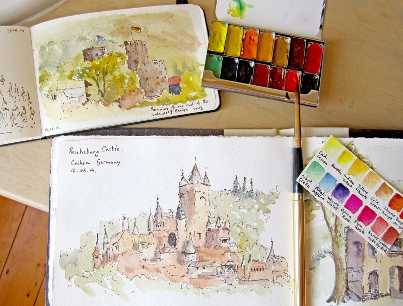 Lovely sketches from Germany by Janet Prior