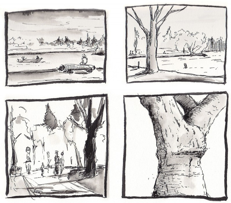 Thumbnail sketches from Greenlake, Seattle