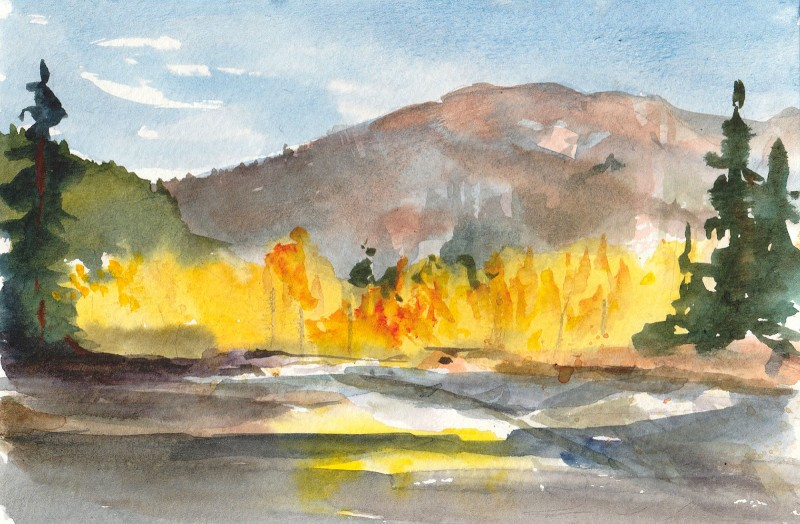 "Lost River Colors, 5"" x 7"" watercolor sketch"