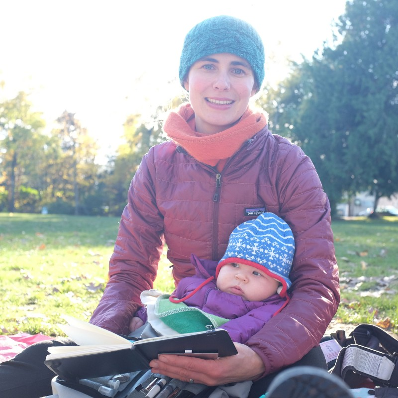 Sketching with Stella at Woodland Park, Seattle. By Darin Reid