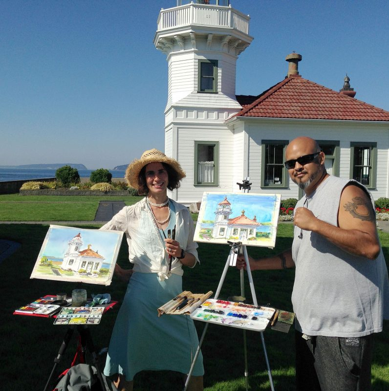 Dynamic plein air duo!