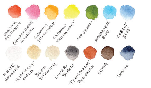 how to draw an art palette