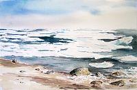 Ice off Sand Island